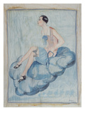 'La Garconne', C. 1925-30 (Painted Silk) Giclee Print by  Hungarian