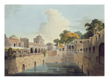 A Baolee Near the Old City of Delhi, Plate Xviii from Part 4 of 'Oriental Scenery', Pub. 1802 Giclee Print by Thomas Daniell