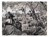 The Battle of Chateauguay, 26th October 1813, 1880 (Engraving) Premium Giclee Print by  Canadian