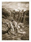 Captain Ranken Attending to the Wounded after His Thigh and Leg Had Been Shattered (Litho) Giclee Print by W. Avis