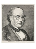 Sir Rowland Hill, Founder of the Penny Post (Litho) Giclee Print by  English