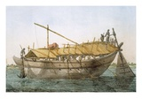 Wolack, River Craft for Transport of Goods Giclee Print by Franz Balthazar Solvyns