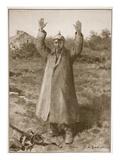 Kamerad.. Pardon! Hands-Up Method of German Surrender (Litho) Giclee Print by Louis Remy Sabattier
