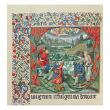 Page from a Facsimile Edition of 'Missel De Jouvenel Des Ursins' with an Historiated Initial Giclee Print by  French
