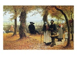 Bringing the Ex-Voto to the Church, 1875 (Oil on Panel) Giclee Print by William John Hennessy
