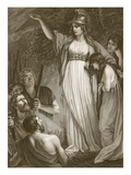Boadicea Haranging the Britons, Engraved by Sharp Giclee Print by John Opie