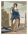 Female Citizen of Ancient Rome, a Folio from &#39;L&#39;Antique Rome&#39;, Engraved by Labrousse, Pub. 1796 Giclee Print by Jacques Grasset de Saint-Sauveur