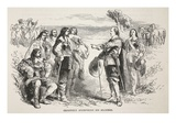 Cromwell Addressing His Soldiers (Litho) Giclee Print by  English