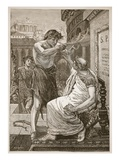 Julius Caesar Refusing the Crown Offered by Anthony (Litho) Giclee Print by  English