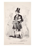 The Street Dog-Seller, Illustration from 'London Labour and London Poor' by Henry Mayhew, Pub. 1862 Giclee Print by  English