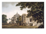 Pl. 18 a View of the Mosque at Mounheer, from the South East, from 'Select Views in India' Giclee Print by William Hodges