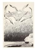 The Four Gull-Winged Djinns Lifting Up Suleiman-Bin-Daoud's Palace Giclee Print by Joseph Rudyard Kipling
