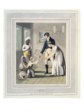 A European Lady and Her Family, Attended by an Ayah, or Nurse, Plate 17 Giclee Print by Charles D'oyly
