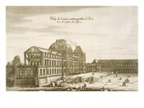 Palais Du Louvre (Engraving) Giclee Print by  German