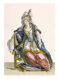 Lady 'Habit a La Sultan', Engraved by Patas, Plate No.107 Giclee Print by Pierre Thomas Le Clerc