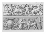 Designs for Classical Friezes, from 'Precision Book of Drawings', 1856 (Engraving) Giclee Print by  German
