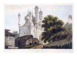 A Mosque at Gazipoor, 1787 (Aquatint) (See also 179847) Giclee Print by William Hodges