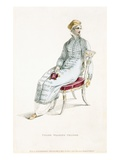 Polish Walking Pelisse, Fashion Plate from Ackermann's Repository of Arts (Coloured Engraving) Giclee Print by  English