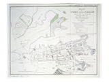 Plan of Sydney with Pyrmont, New South Wales Giclee Print by James Basire