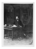 Emile Zola (1840-1902) in His Study (B/W Photo) Giclee Print by Paul Nadar
