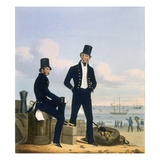 Gunners, Boatswains and Carpenters, Plate 11 from 'Costume of the Royal Navy and Marines' Giclee Print by L. And Eschauzier, St. Mansion