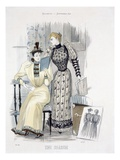 The Season, Fashion Plate for 'The Queen', September 1892 (Coloured Engraving) Giclee Print by  English