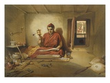 A Buddhist Monk, from 'India Ancient and Modern', 1867 (Colour Litho) Reproduction procédé giclée par William 'Crimea' Simpson