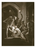 Death of Arthur, Engraved by J. Fittler Giclee Print by William Hamilton