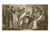 Edward II Resigning His Crown, Engraved by Schiavonelli Giclee Print by Henry Tresham
