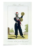 Cymbal Player of the Royal Guard, C.1790 (Colour Litho) Giclee Print by  French