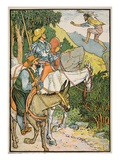 Don Quixote Meeting Cardenio, Illustration from 'Don Quixote of the Mancha' Retold by Judge Parry Giclee Print by Walter Crane