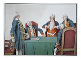 King Frederick William I and Major General of Buddenbrock (Colour Litho) Giclee Print by Carl Rochling