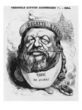 Caricature of Theophile Gautier as an Academician, Illustration from 'L'Eclipse', 2nd May 1869 Giclee Print by André Gill