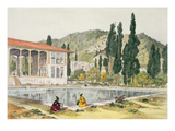 The Palace and Gardens of Ashref, Persia, Plate 80 from 'Voyage in Turkey and Persia' Giclee Print by Jules Joseph Augustin Laurens