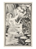 I Am Here Dearest Little One - I Am Your Own Godmother', Said the Nix-Lady Giclee Print by Walter Crane