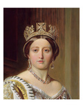 Portrait of Queen Victoria, 1859 (Oil on Canvas) (Detail of 192754) Giclee Print by Franz Xavier Winterhalter