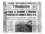 Announcement in the French Communist Newspaper 'L'Humanite' of the United Nations Resolution Giclee Print
