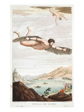 Daedalus and Icarus, Book VIII, Illustration from Ovid's Metamorphoses, Florence, 1832 Giclee Print by Luigi Ademollo