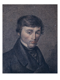 Portrait of Adam Bernard Mickiewicz (1798-1855) (Colour Litho) Giclee Print by  Polish