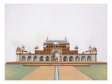 Mausoleum of Akbar the Great at Sekandra (Colour Litho) Giclee Print by  German