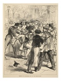 Arrest of a Prussian Spy on the Boulevards, September 1870 Giclee Print by  French