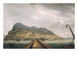 View of Gibraltar, Engraved by Thomas Sutherland for J. Jenkins&#39;s &#39;Naval Achievements&#39;, 1816 Giclee Print by Thomas Whitcombe