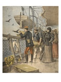 At Sea, Illustration from 'Le Petit Journal: Supplement Illustre', 10th April 1898 (Litho) Giclee Print by  French