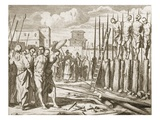 Punishment: Massacre (Possibly of Europeans) by Impalement Giclee Print by Philip Baldaeus