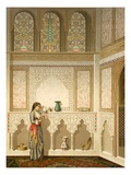 Cairo: Interior of the Domestic House of Sidi Youssef Adami, 19th Century (Chromolitho) Reproduction proc&#233;d&#233; gicl&#233;e par Emile Prisse d&#39;Avennes