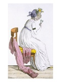 Lady Wearing a Negligee, from 'Costume Parisien', Published in 'Journal Des Dames Et Des Modes' Giclee Print by  French