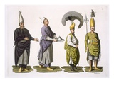 Head Baker, Head Cook and Other Examples of Ottoman Costume, Plate 4 Giclee Print by  Italian