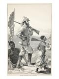 Stanley Approaching Lake Tanganyika Giclee Print by  English