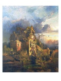 The Haunted House, 1858 Giclee Print by Thomas Moran
