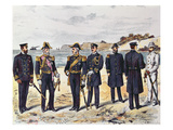 German Naval Uniforms, Late 19th Century (Colour Litho) Giclee Print by  German